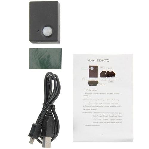 Quad-Band GSM Bug Camera Listening Deviece Alarm MMS Monitor With PIR Infrared Sensor Motion Detector