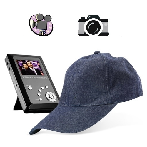 Cap-shaped Spy Camera Hidden camera with Wireless Receiver kit BC520144CSC