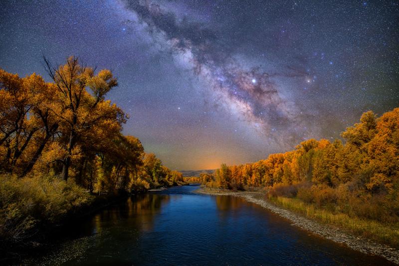 """12"""" x 18"""" METAL PRINT of Gunnison River Milky Way, Colorado"""