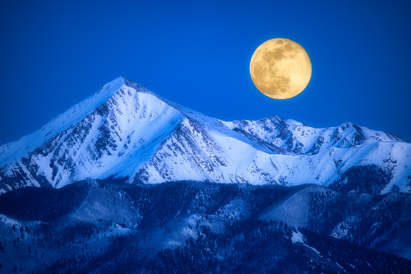 "12"" x 18"" METAL PRINT of Mount Owen Moonrise, Colorado"