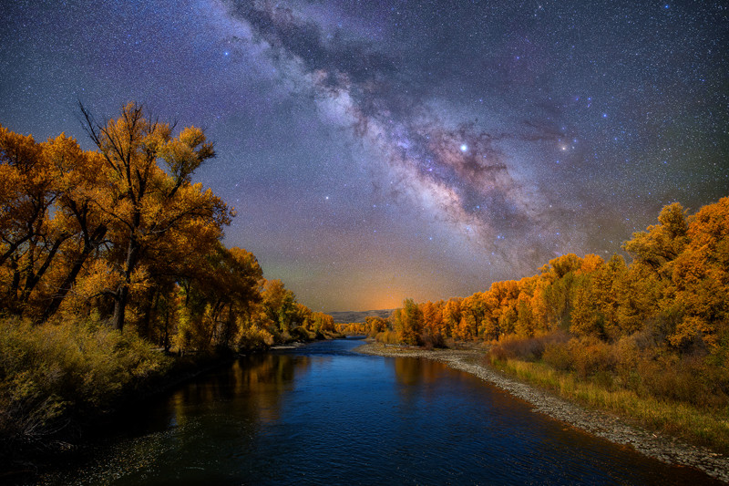 "24"" x 36"" METAL PRINT of Gunnison River Milky Way, Colorado"