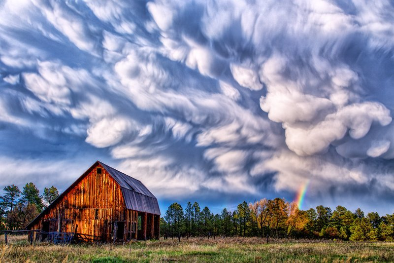 "20"" x 30"" METAL PRINT of Barn with Summer Storm Clouds, Colorado"