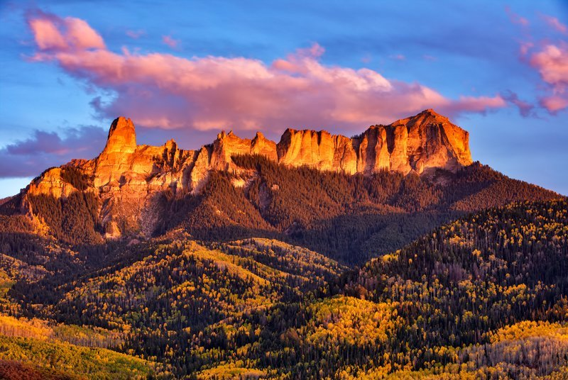 "20"" x 30"" METAL PRINT of Fall Foliage Sunset, Colorado"