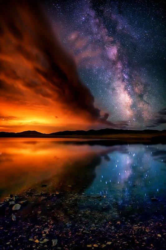 "20"" x 30"" METAL PRINT of Eleven Mile Reservoir Milky Way, Colorado"