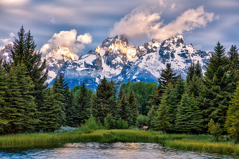"20"" x 30"" METAL PRINT of Schwabacher Landing - Grand Teton National Park, Wyoming"