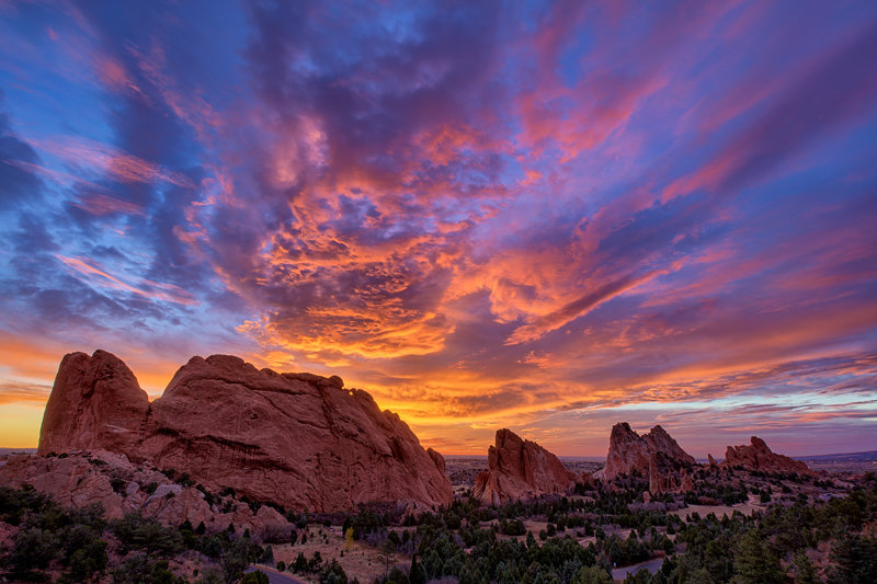 "20"" x 30"" METAL PRINT of Garden of the Gods, Colorado"