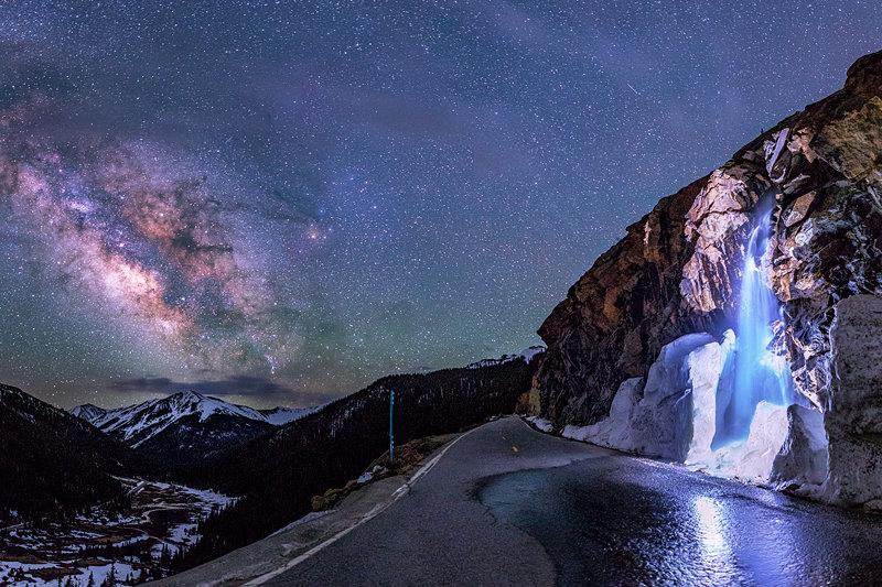 """20"""" x 30"""" METAL PRINT of Independence Pass Milky Way, Colorado"""