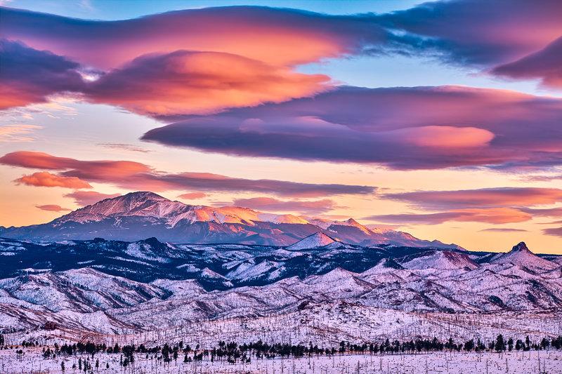 "20"" x 30"" METAL PRINT of Pikes Peak Sunset, Colorado"