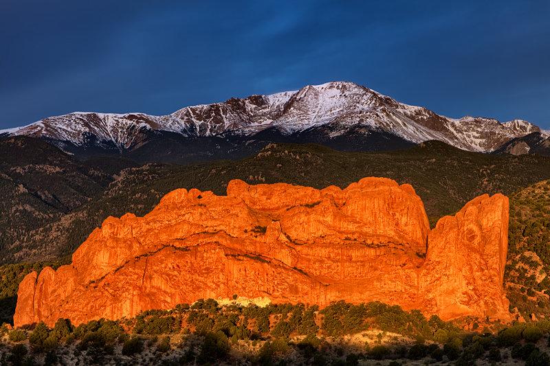 "20"" x 30"" METAL PRINT of Pikes Peak, Colorado"