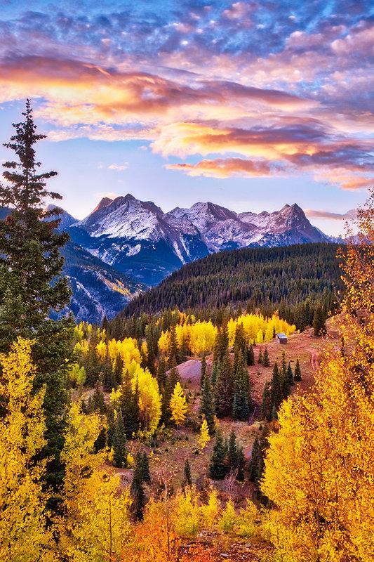 "20"" x 30"" METAL PRINT of Fall Foliage Sunrise, Colorado"