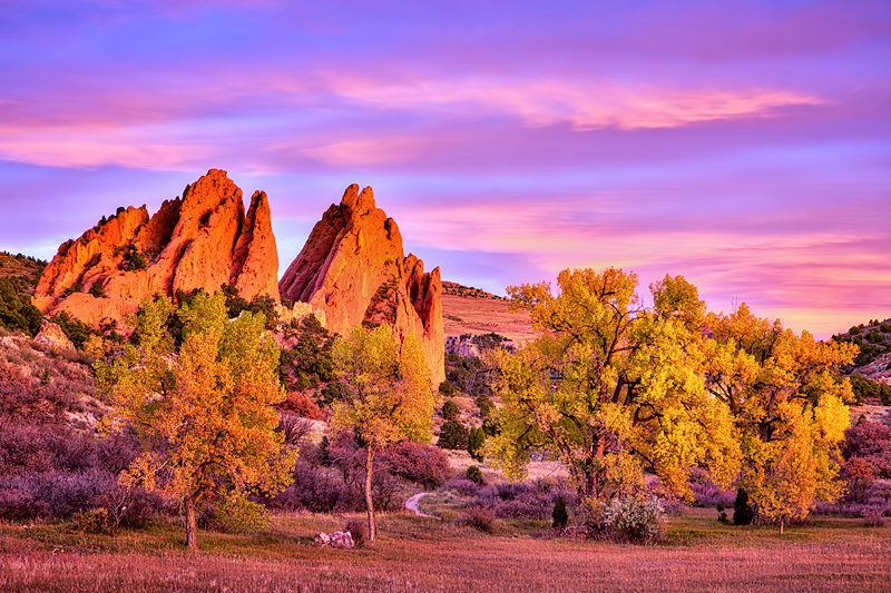 "20"" x 30"" METAL PRINT of Garden of the Gods Fall Foliage, Colorado"