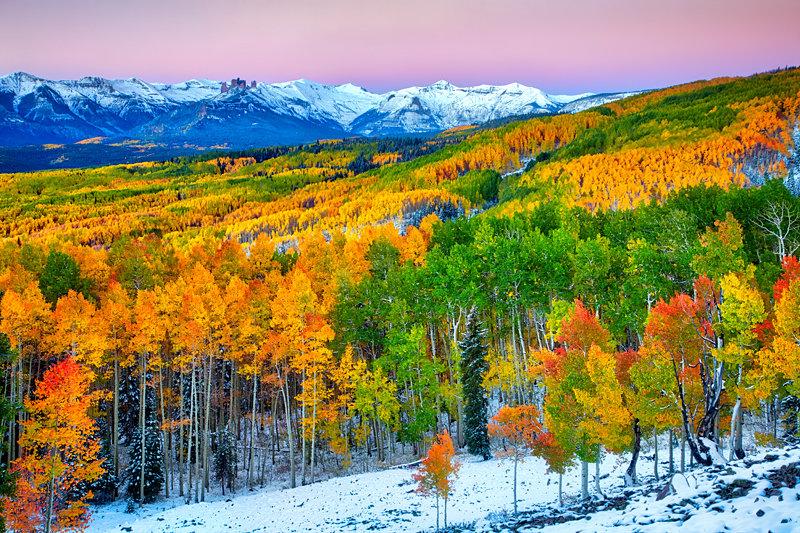 "20"" x 30"" METAL PRINT of Fall with Snow, Colorado"