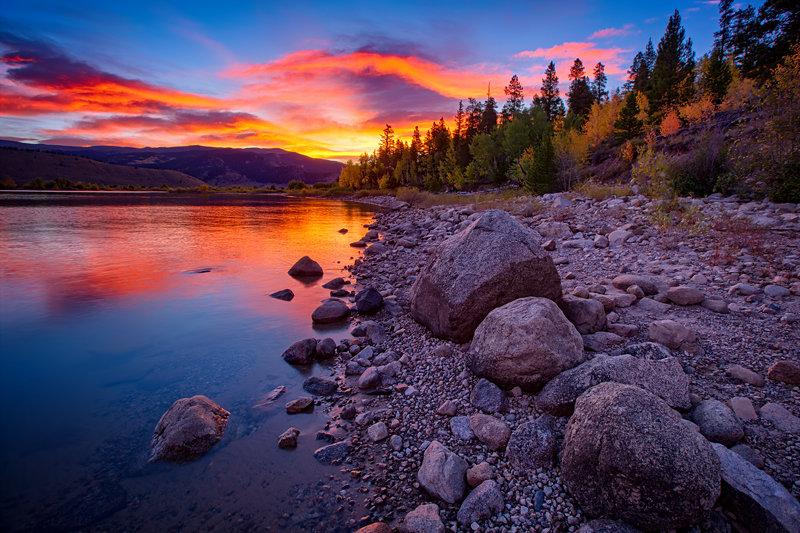 "20"" x 30"" METAL PRINT of Twin Lakes Sunrise, Colorado"