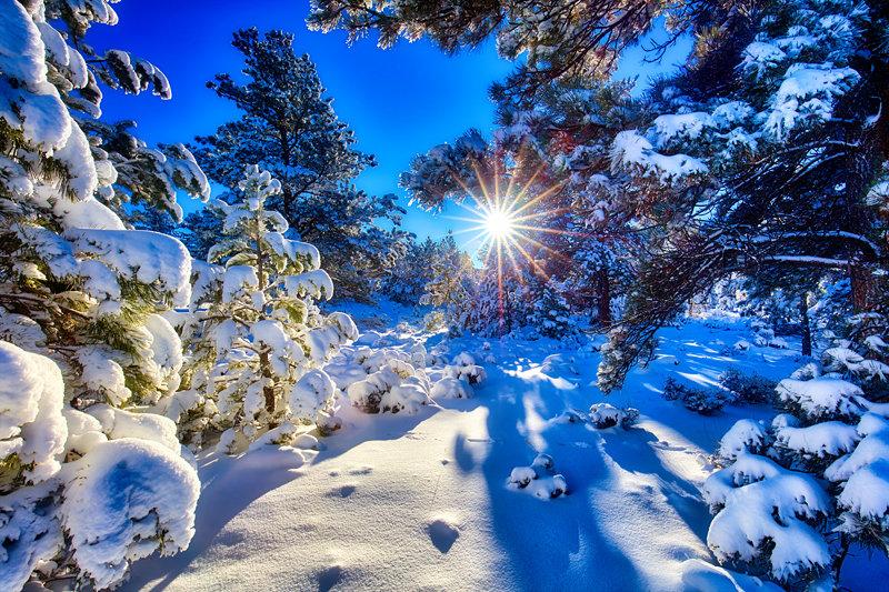 "20"" x 30"" METAL PRINT of Winter Sunrise, Colorado"