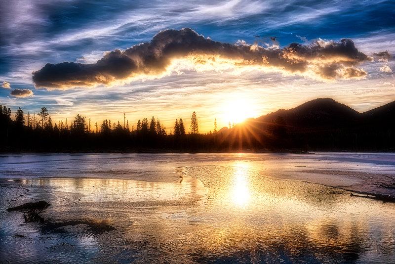 "20"" x 30"" METAL PRINT of Sprague Lake Sunrise Rocky Mountain National Park, California"