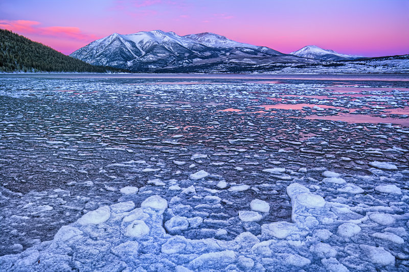 "20"" x 30"" METAL PRINT of Frozen Twin Lakes Sunrise, Colorado"
