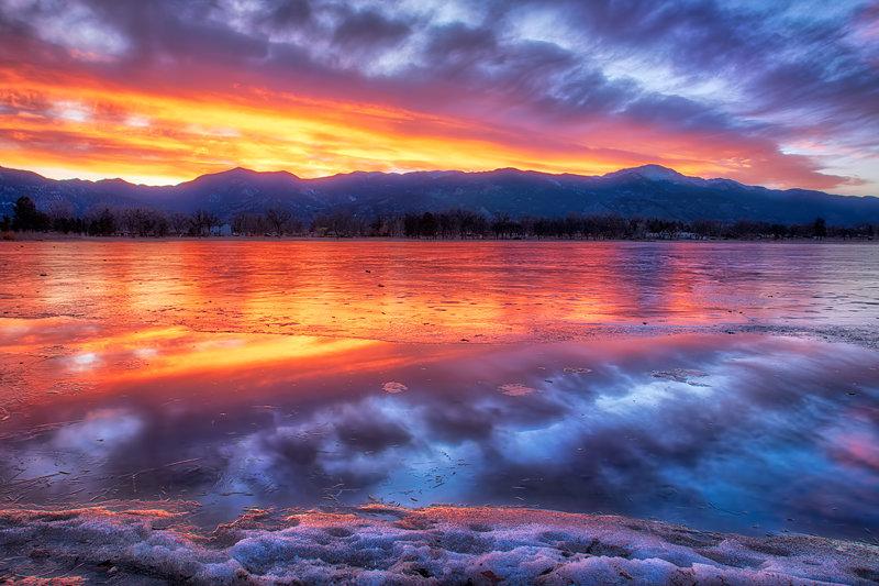 "20"" x 30"" METAL PRINT of Prospect Lake Sunset, Colorado"
