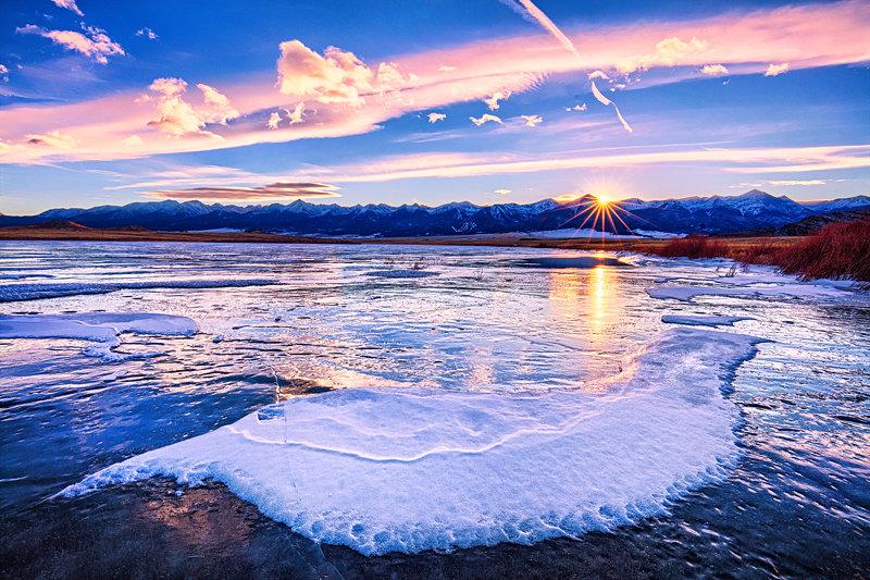 """20"""" x 30"""" METAL PRINT of DeWeese Reservoir Sunset, Colorado"""