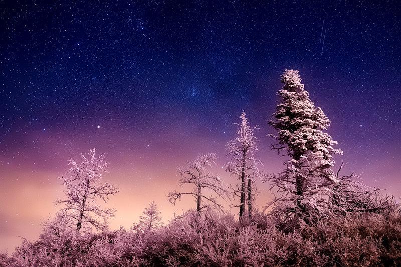 "20"" x 30"" METAL PRINT of Frozen Night, Colorado"