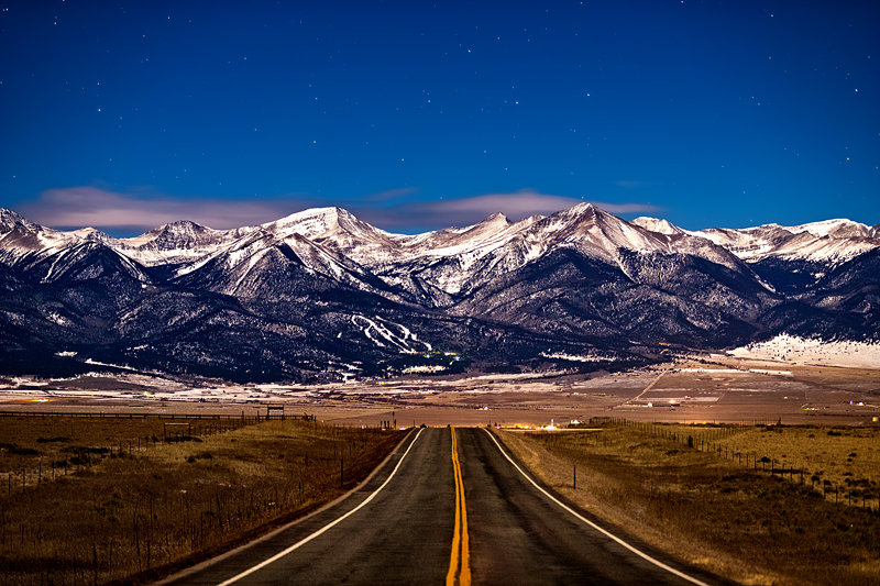 "20"" x 30"" METAL PRINT of Moonlit Sangre de Cristo Mountains, Colorado"
