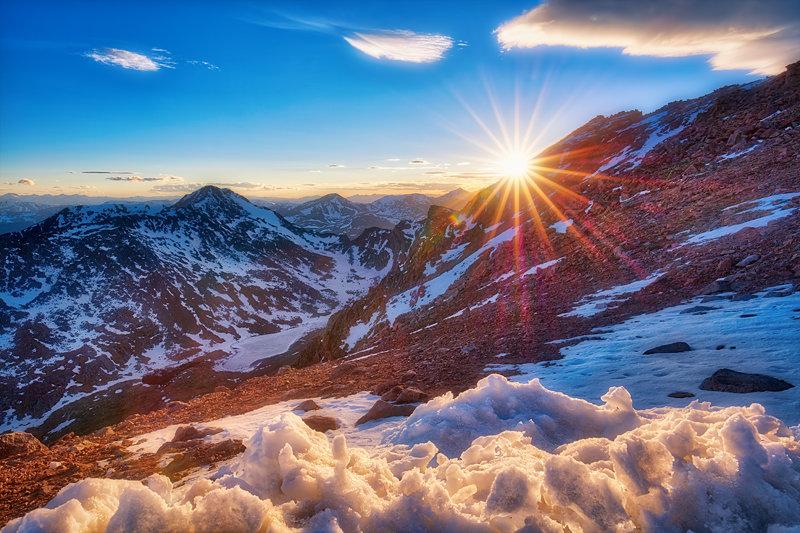 "20"" x 30"" METAL PRINT of Mount Evans Sunset, Colorado"