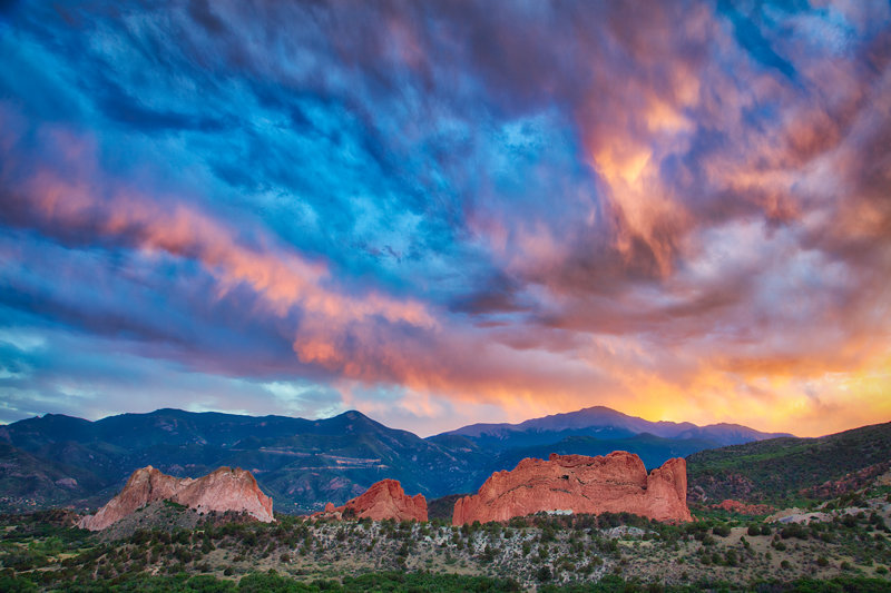 "20"" x 30"" METAL PRINT of Garden of the Gods Sunset, Colorado"