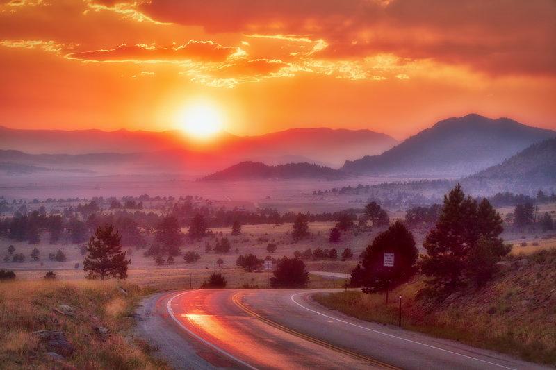 "20"" x 30"" METAL PRINT of Wilkerson Pass Sunset, Colorado"