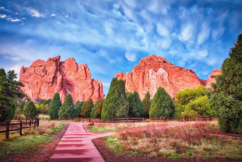 "20"" x 30"" METAL PRINT of Garden of the Gods, Colorado"