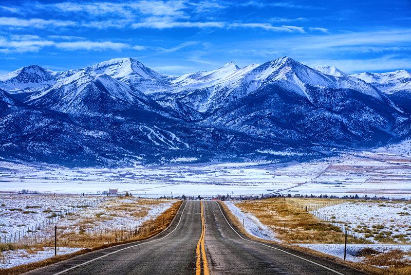 """20"""" x 30"""" METAL PRINT of Sangre de Cristo Mountains Westcliffe, Colorado"""