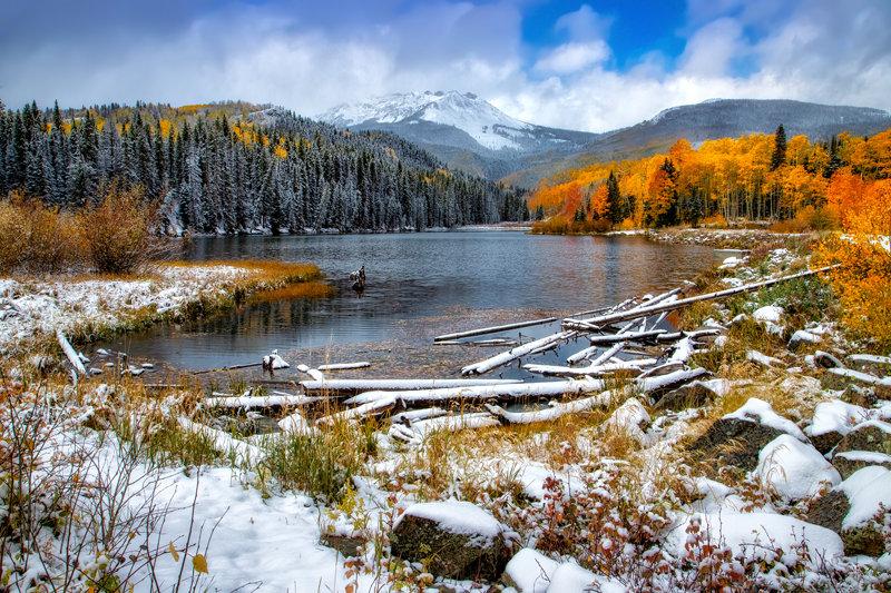 "20"" x 30"" METAL PRINT of Woods Lake Fall Foliage, Colorado"