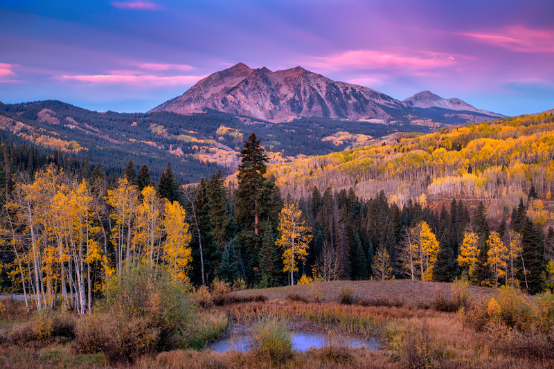 "20"" x 30"" METAL PRINT of Kebler Pass Fall Foliage, Colorado"