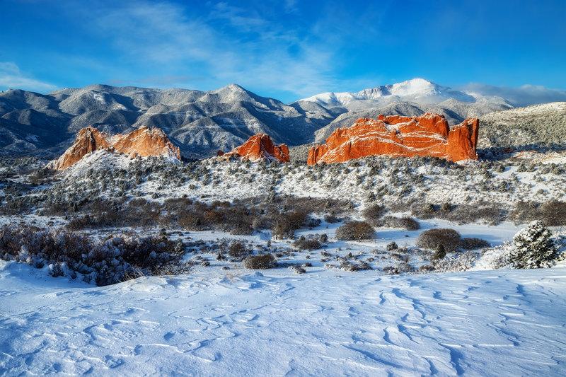 "20"" x 30"" METAL PRINT of Garden of the Gods Winter, Colorado"