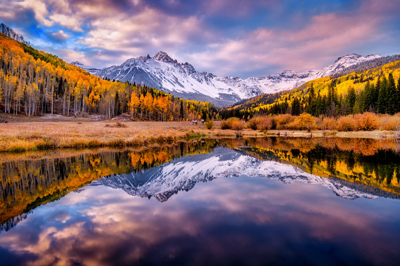"20"" x 30"" METAL PRINT of Mount Sneffels Fall Foliage, Colorado"