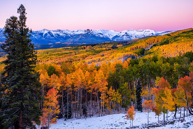 "12"" x 18"" METAL PRINT of Ohio Pass Fall Foliage, Colorado"