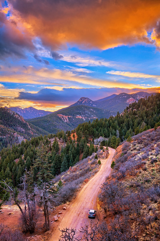 "12"" x 18"" METAL PRINT of Gold Camp Road Sunset, Colorado"