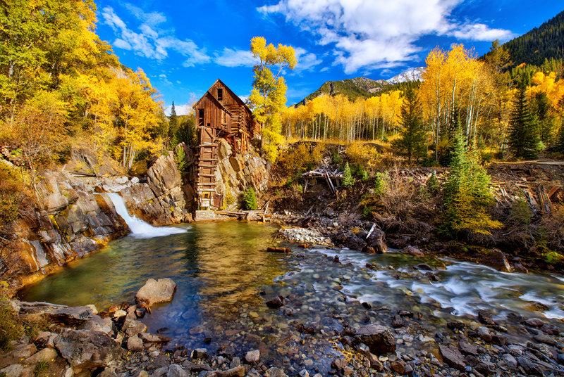 "12"" x 18"" METAL PRINT of Crystal Mill Marble Colorado"