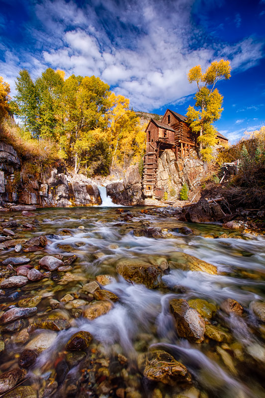 "12"" x 18"" METAL PRINT of Crystal Mill Marble Colorado"