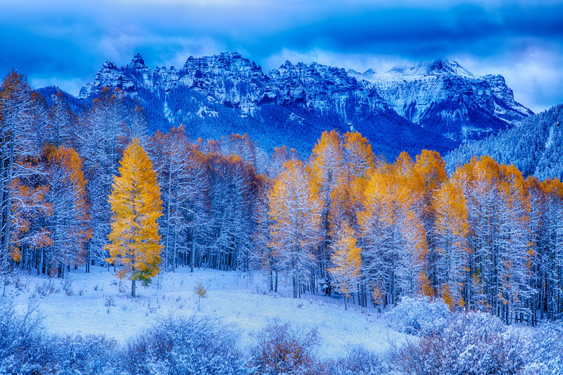 """12"""" x 18"""" METAL PRINT of Fire and Ice, Colorado"""
