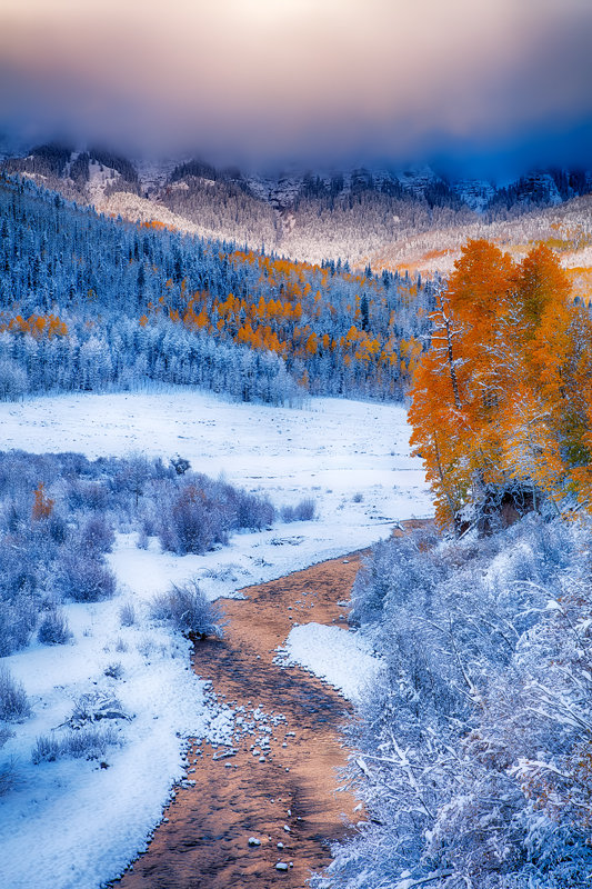 "12"" x 18"" METAL PRINT of Fire and Ice, Colorado"