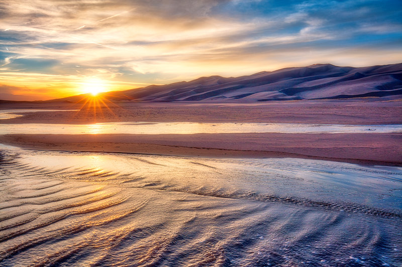 "12"" x 18"" METAL PRINT of Great Sand Dunes National Park, Colorado"