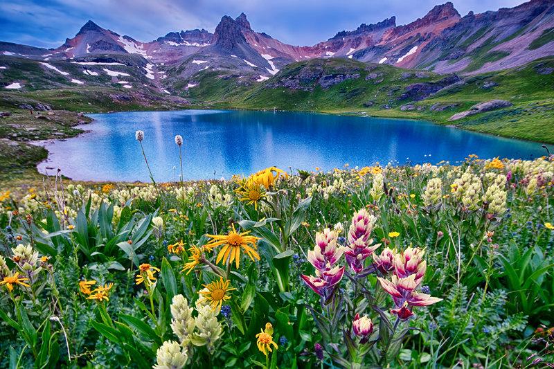 "12"" x 18"" METAL PRINT of Ice Lake, Colorado"