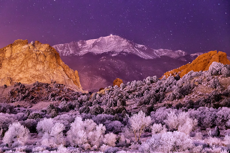 "12"" x 18"" METAL PRINT of Pikes Peak, Colorado"