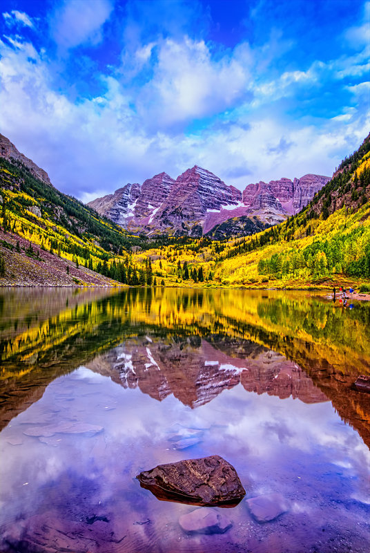 "12"" x 18"" METAL PRINT of Maroon Bells, Colorado"