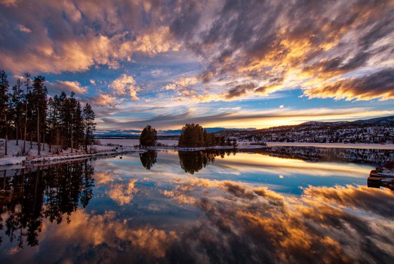 "12"" x 18"" METAL PRINT of Shadow Mountain Lake, Colorado"