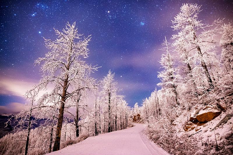 "12"" x 18"" METAL PRINT of Frozen Night, Colorado"