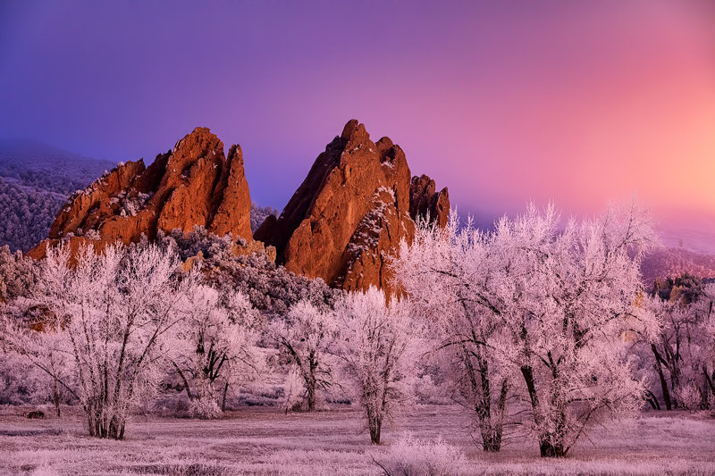 "12"" x 18"" METAL PRINT of Garden of the Gods, Colorado"