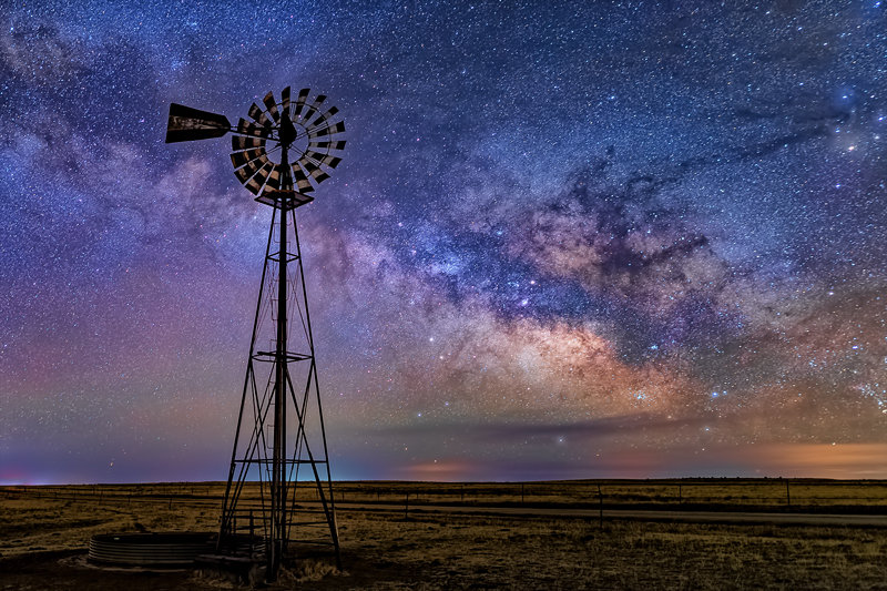 "12"" x 18"" METAL PRINT of Windmill Milky Way, Colorado"