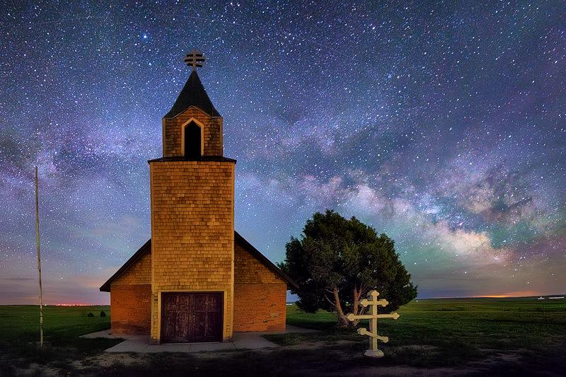 "12"" x 18"" METAL PRINT of Church Milky Way, Colorado"