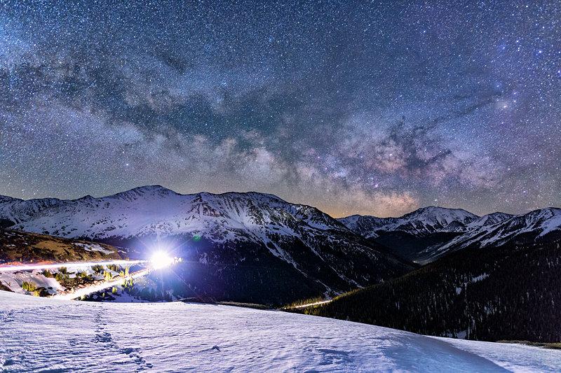 """12"""" x 18"""" METAL PRINT of Independence Pass Milky Way, Colorado"""