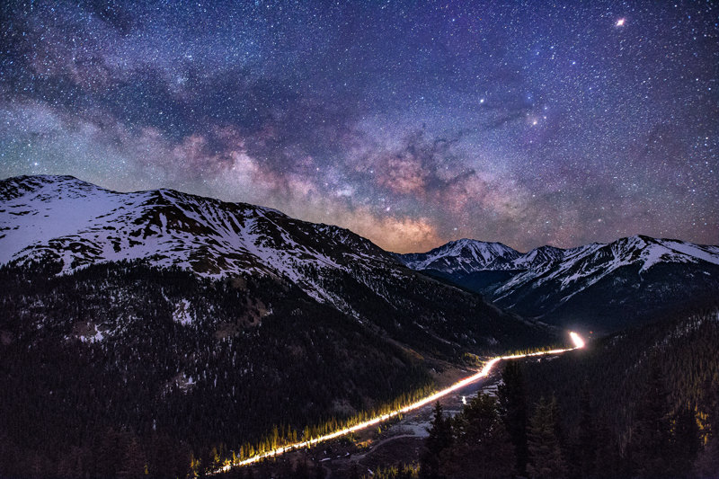 "12"" x 18"" METAL PRINT of Independence Pass Milky Way, Colorado"